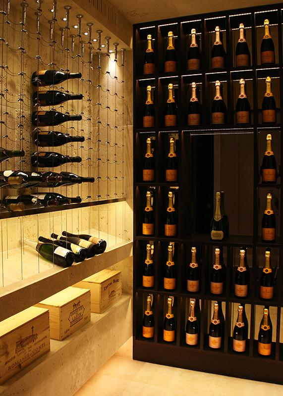 Travertine-Cable-Wine-System-Wine-cellar